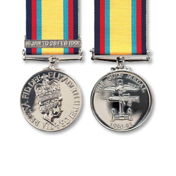 Gulf Medal With Clasp 16 Jan - 28 Feb 1991 Miniature