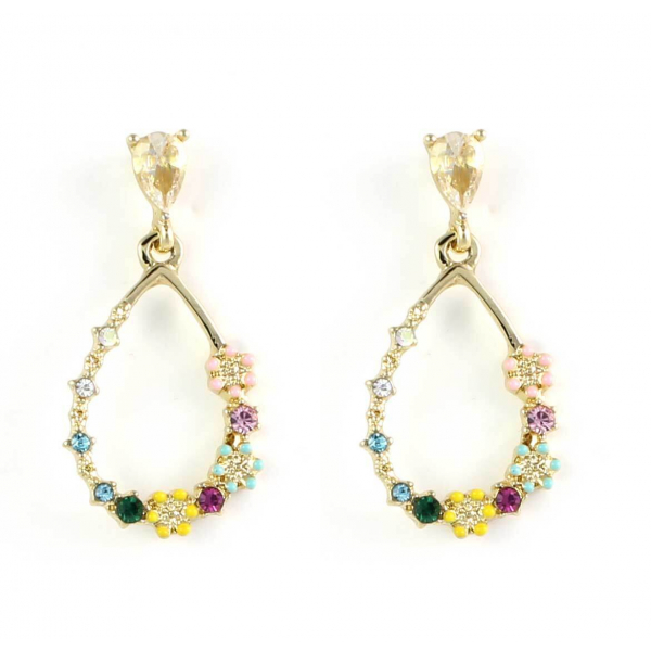 Floral Teardrop Earrings