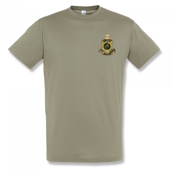 EMBROIDERED KHAKI T-SHIRT