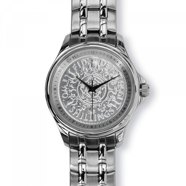Lifestyle Coinwatch with Florin, Silver Case, Silver Bracelet