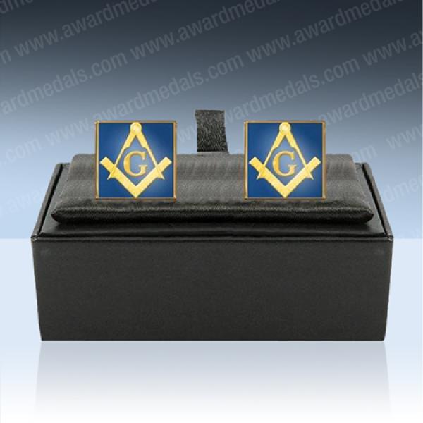 Masonic Enamel Cufflinks with G