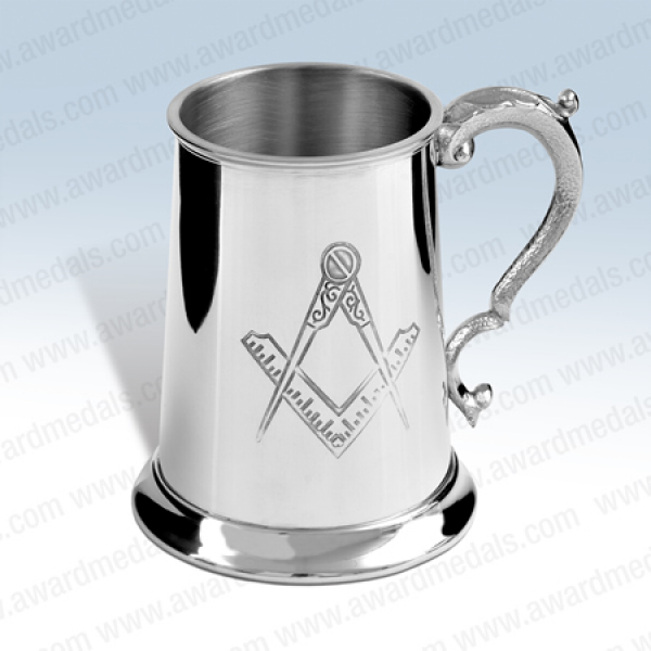 Masonic Pewter Tankard (no G)