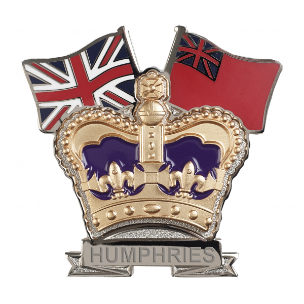 Merchant Navy Crown & Country Lapel Badge