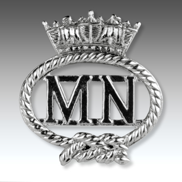 Merchant Navy Silver Finish Lapel Badge