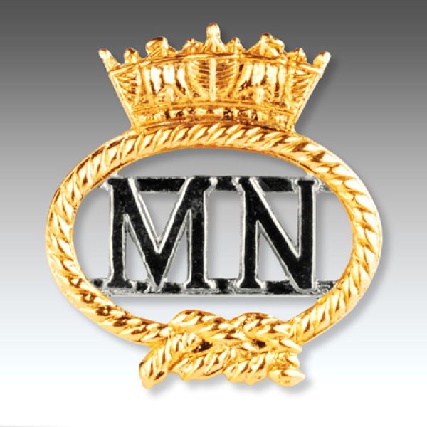 Merchant Navy Gilt Finish Lapel Badge