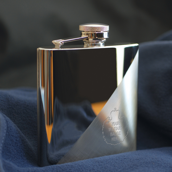 Military Two-Tone 6oz Hip Flask