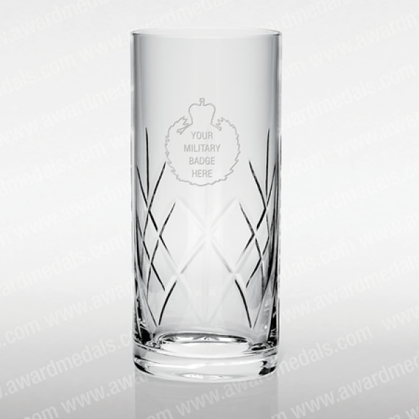 Military Cut Glass Hi-Ball Tumbler