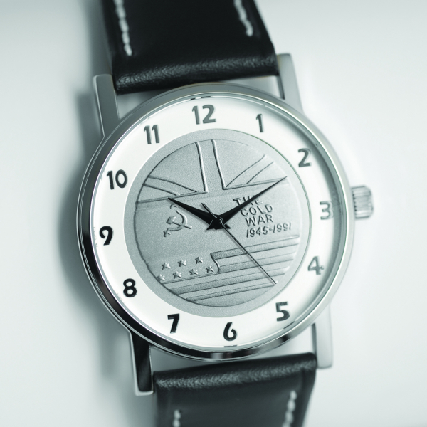 MEDALWATCH SILVER DIAL BLACK  STRAP