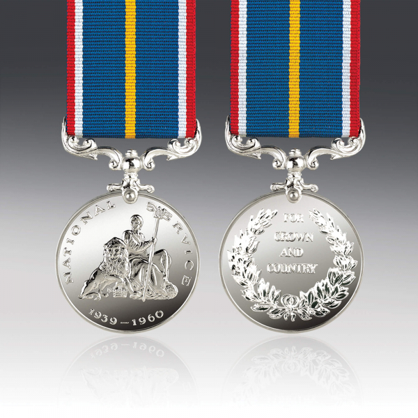 National Service Full Size Medal
