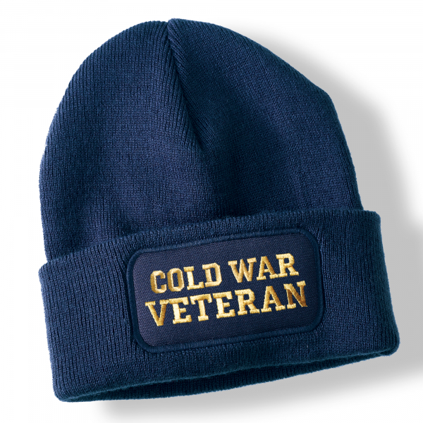 Cold War Veteran Navy Blue Acrylic Beanie Hat