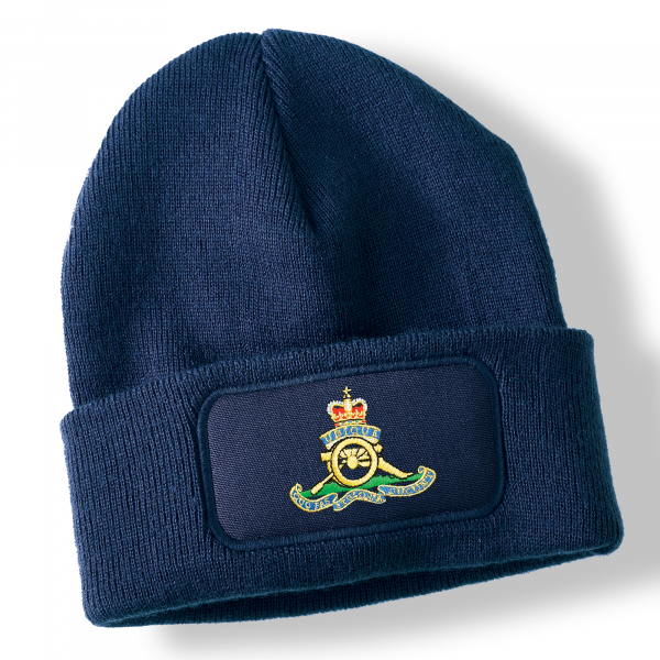 Royal Artillery Navy Blue Acrylic Beanie Hat