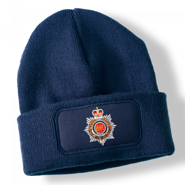 Royal Army Service Corps Navy Blue Acrylic Beanie Hat