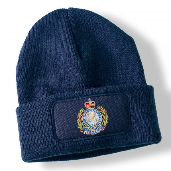 Royal Engineers Navy Blue Acrylic Beanie Hat