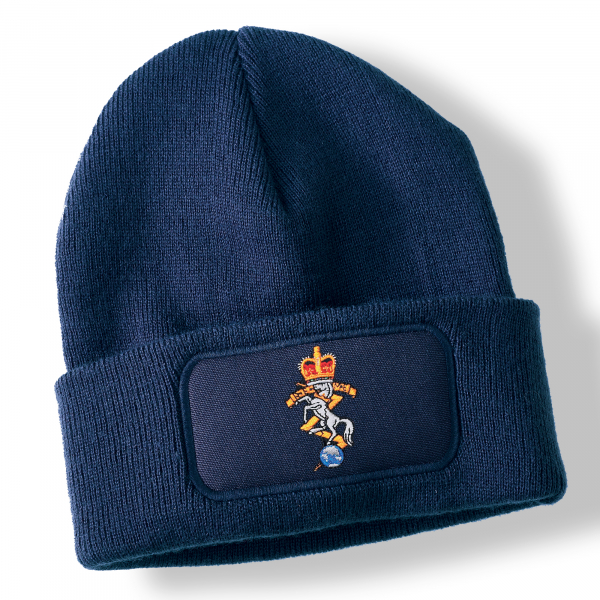 Royal Electrical and Mechanical Engineers Navy Blue Acrylic Beanie Hat