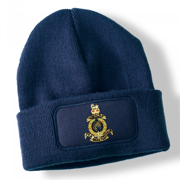 Royal Marines Navy Blue Acrylic Beanie Hat