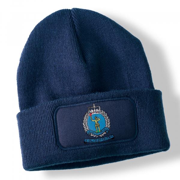 Royal Observer Corps Navy Blue Acrylic Beanie Hat