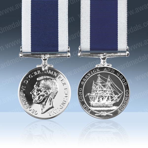 Royal Navy Long Service Medal GVIR