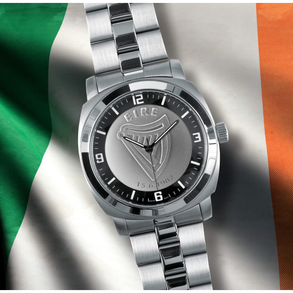 Silver Bracelet Irish Patriot Watch