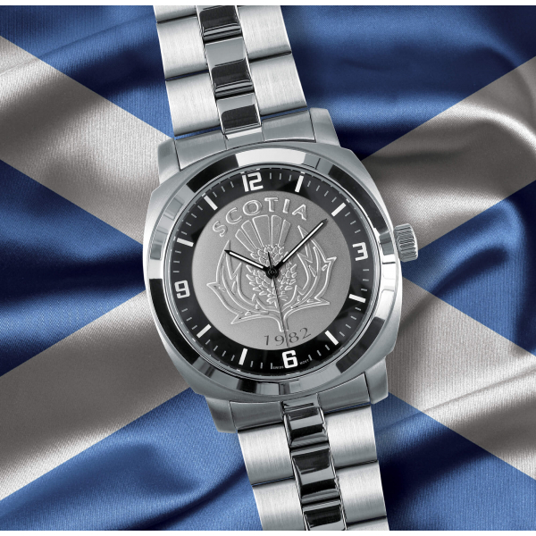 Silver Bracelet Scottish Patriot Watch