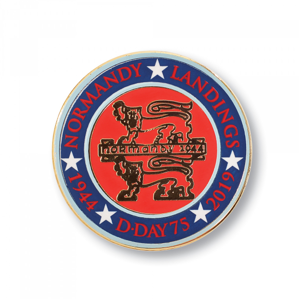 Normandy 75 Lapel Badge