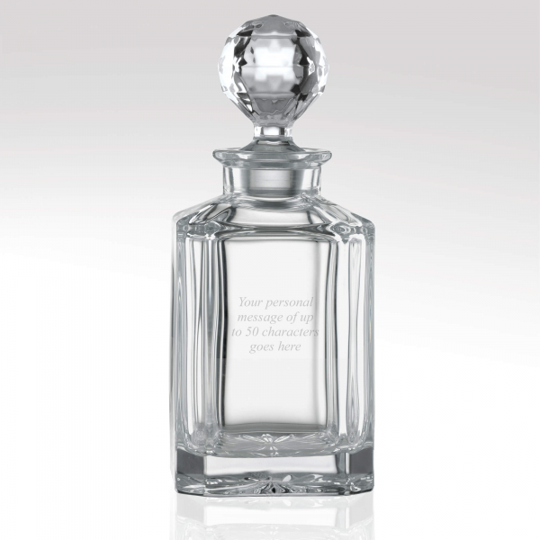 Family Crest Glass Decanter