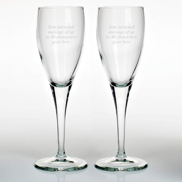 Set of Two 6oz Champagne Flutes
