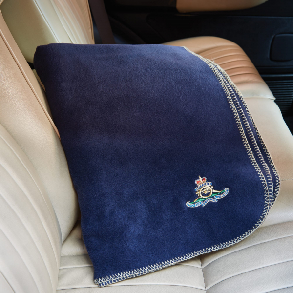 Personalised Navy Blue Fleece Blanket