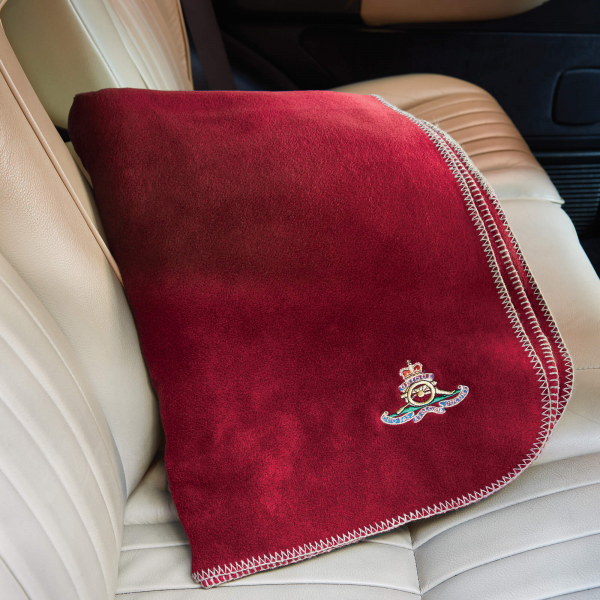 Personalised Red Fleece Blanket
