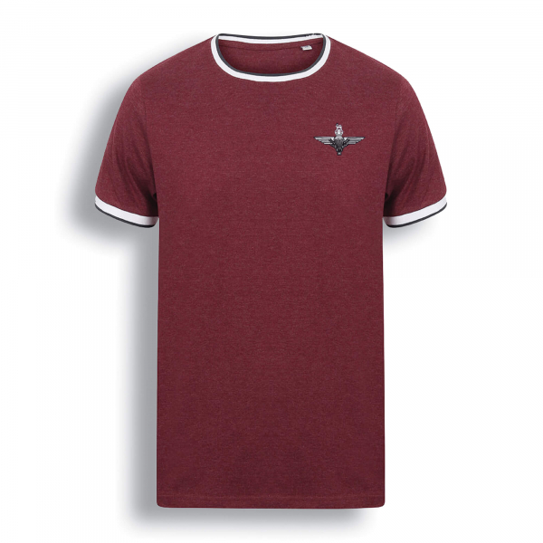 Contrast T-Shirt Burgundy/White