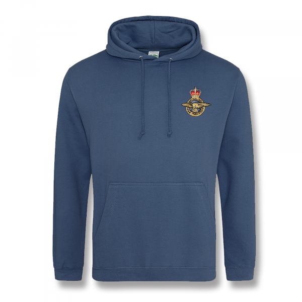 Personalised Air Force Blue Hooded Sweatshirt