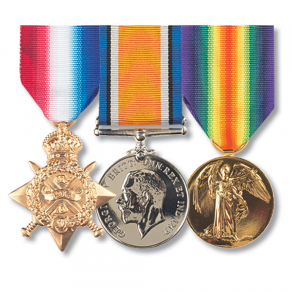 Set of 3 Pip Squeak & Wilfred Mounted Medals