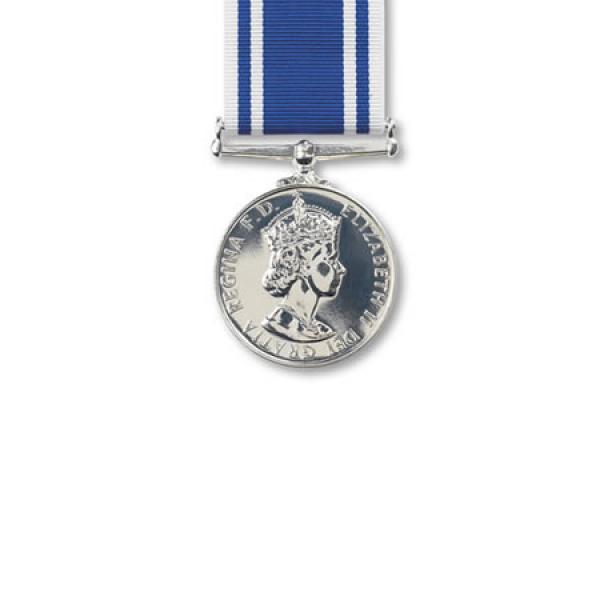 Police Exemplary Service Miniature Medal Loose
