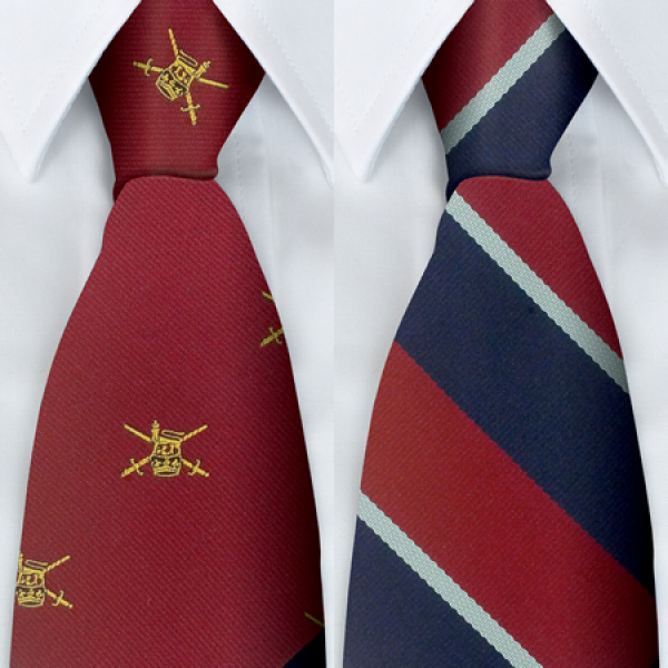 Polyester Military Stripe Tie