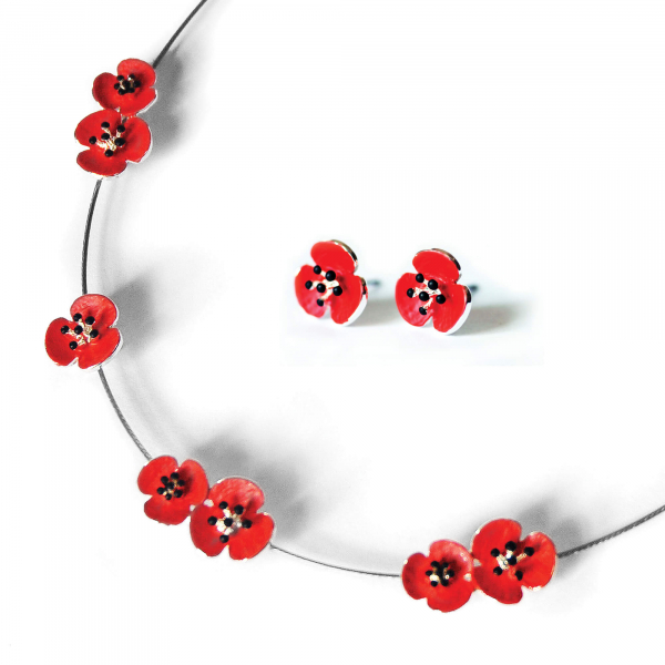 Poppy Necklace And Earring Set