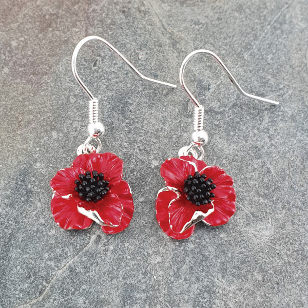 Poppy Flower Earrings