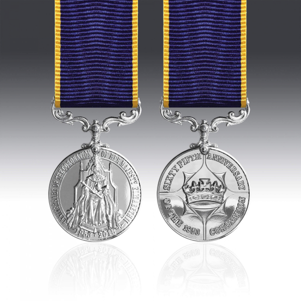 Queen Elizabeth II 65th Anniversary Coronation Miniature Medal