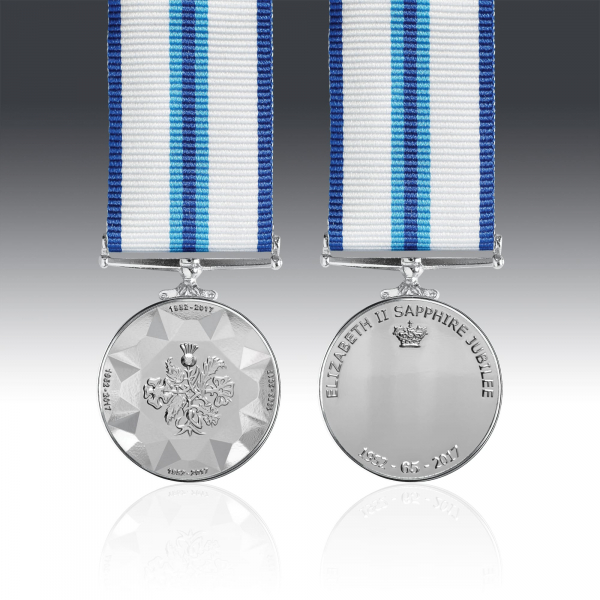 The Commemorative Queens Sapphire Jubilee Miniature Medal