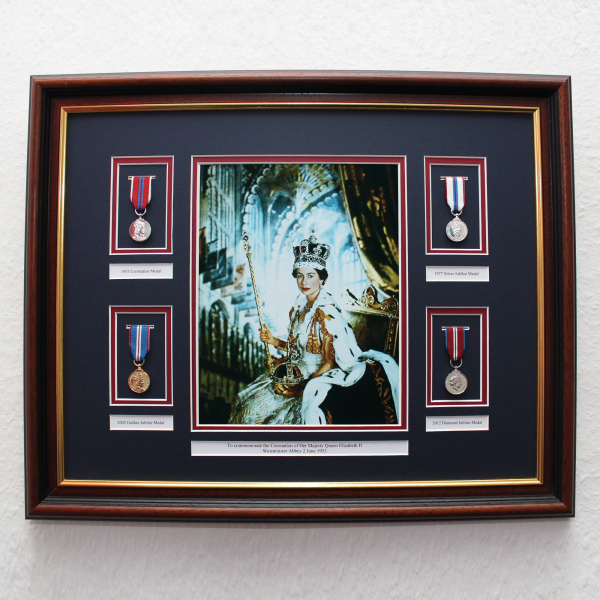 Queens Coronation Frame With Colour Picture