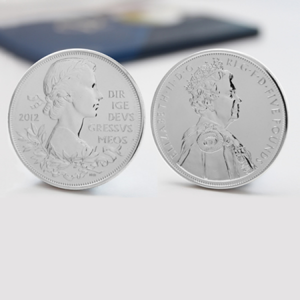 The Queens Official Diamond Jubilee UK £5 Coin