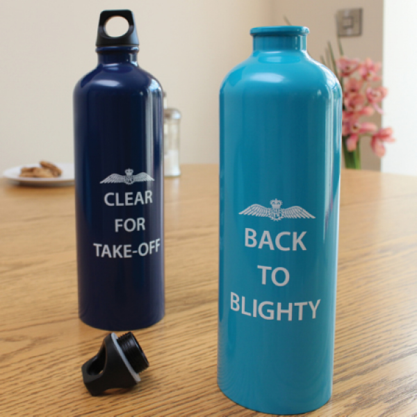 "RAF ""Back To Blighty"" 750ml Metal Water Bottle"