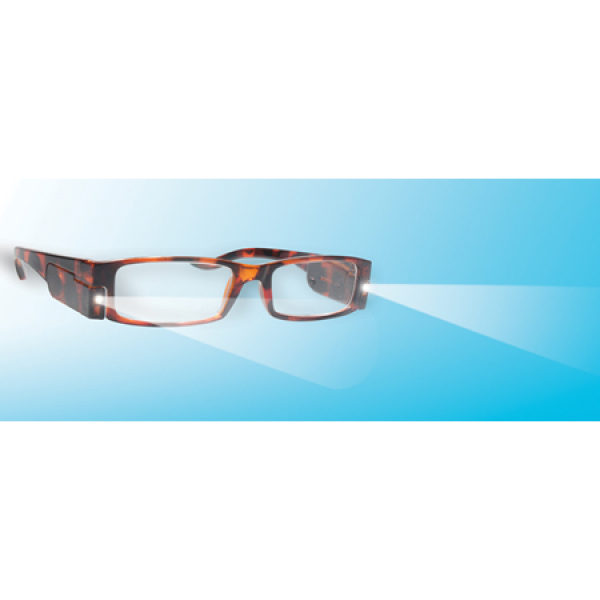 LED Reading Glasses with +1.00 Dioptre Lenses