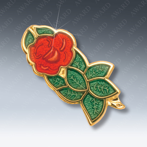 Rose Croix Masonic Lapel Pin