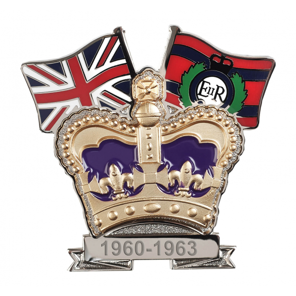 Royal Engineers Crown & Country Lapel Badge