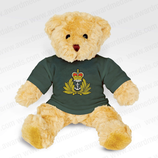 Teddy Bear with Personalised Green T-Shirt