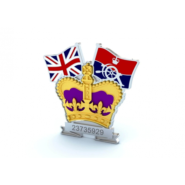 Crown & Country Lapel Badge Royal Artillery