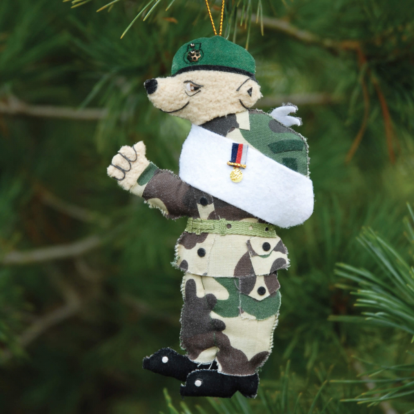 Royal Marines Bear Christmas Decoration