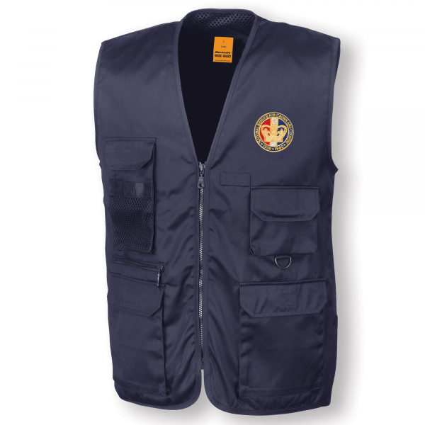 Personalised Navy Blue Safari Waistcoat