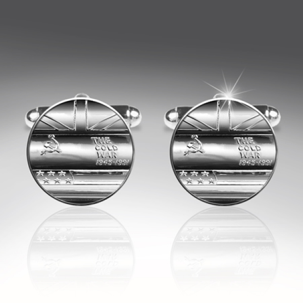 COLD WAR SILVER CUFFLINKS