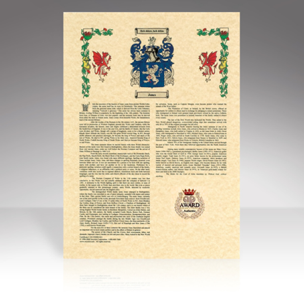 Surname History Scroll Print