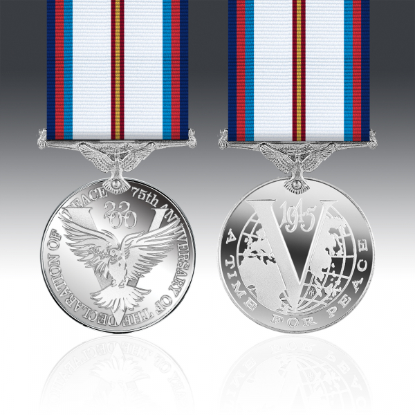 Victory & Peace 75th Anniversary Full Size Medal